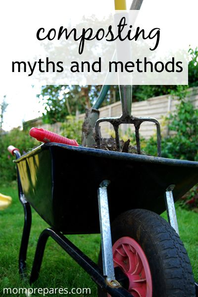 Composting myths debunked. http://www.momprepares.com/2013/04/14/composting-methods-and-myths/16399