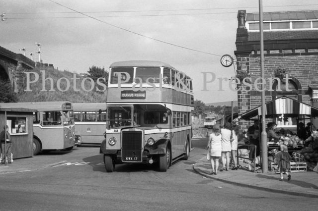 Todmorden Market and Bus station in 1971, Leyland Titan Hebden Bridge Bus, Photo | eBay