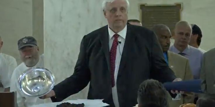 West Virginia Governor Brings Out Actual Bulls**t To Show What He Thinks Of Budget Bill