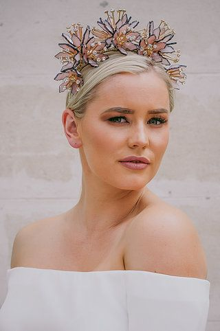 www.ashleelauren.com  The Siren Floral Crown - 2017 Collection - Melbourne Cup Fashion ' Spring Racing'