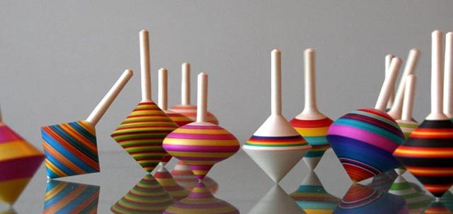 Spinning Top Poetry - by David Earl, Wood Turner