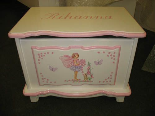 Toy Chest for Girls Faries | Toy Box 2' Clemma Fairy