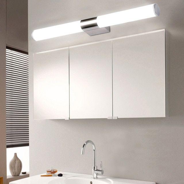 Modern Wall Lamp Bathroom Lighting 5w 6w 8w 90 260v Wall Mounted Waterproof Led Mirror Light Stainless Steel Wall