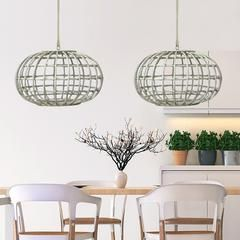 White Washed Cane Pendant Light – Lighting Collective
