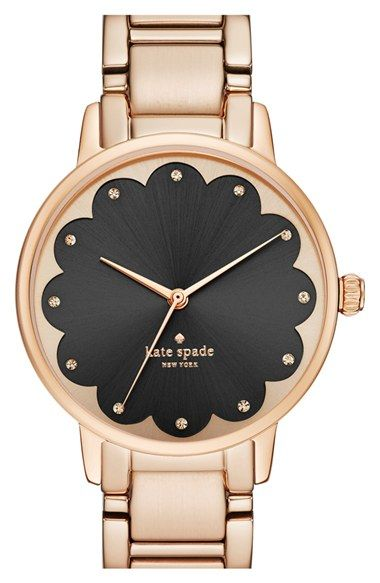 kate spade new york 'gramercy' scalloped dial bracelet watch, 34mm available at #Nordstrom