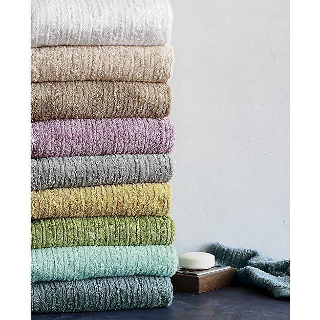 Shop Ribbed White Bath Towels.  Broad borders of vertical ribbing with flat banded edges finish our spa-style white towels in absorbent 500-gram cotton.