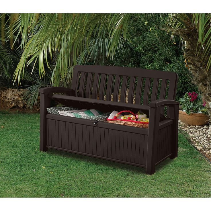 Keter 60 Gallon All Weather Outdoor Patio Storage Bench - 25+ Best Ideas About Patio Storage Bench On Pinterest Outdoor