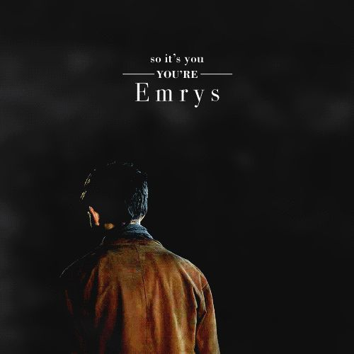 So it's you - you're Emrys | That is what the Druids call me