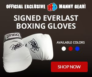 """MP8.PH Official Manny Pacquiao website and source for the latest news, pictures, videos, exclusives, sports memorabilia and authentic Manny Pacquiao merchandise.  Limited Quantity Manny """"Pac Man"""" Pacquiao Signed Everlast Boxing Gloves.   Available in red, white and blue. Order yours now while supplies last."""
