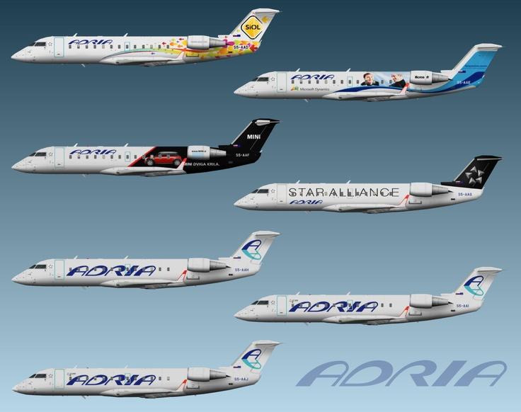 Adria Airways Bombardier CRJ-100/CRJ-200 fleet
