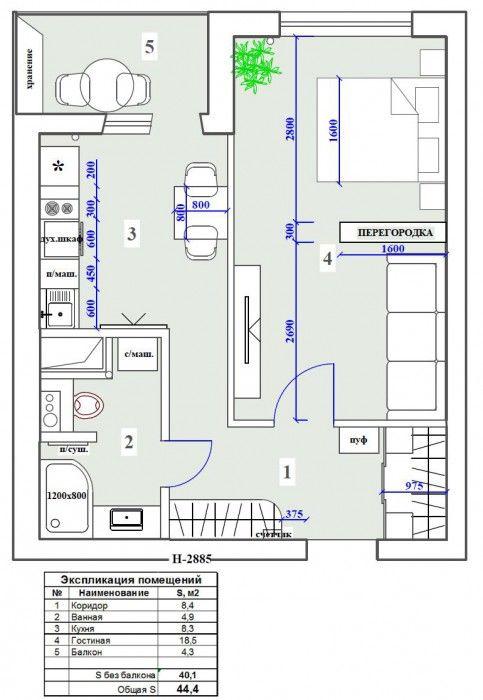 Фотографии: ЖК Современник, 1-комнатная квартира | Идеи для ремонта