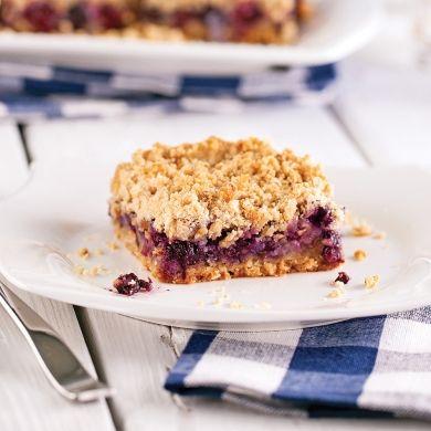 Carrés aux bleuets sans gluten - Recettes - Cuisine et nutrition - Pratico Pratique