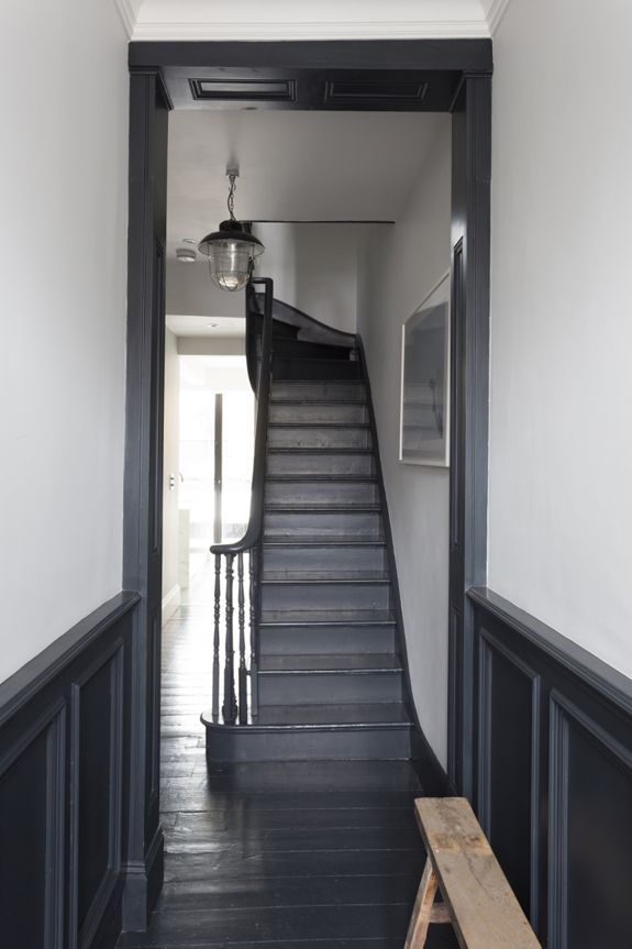 Grey painted floors and stairs