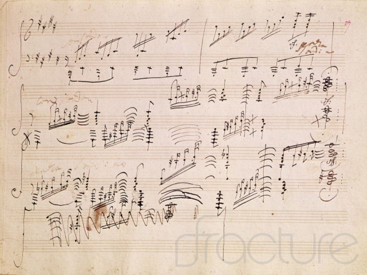 "An image of the musical composition of Bethooven's famous piece """"Moonlight Sonata"""