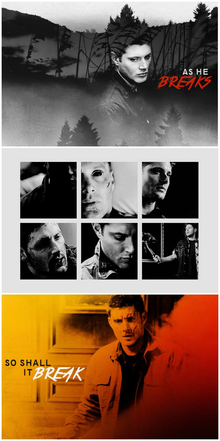 [gifset] and it is written that the whole world shall be broken when a righteous man sheds blood on Earth. #SPN #Dean #CainDean