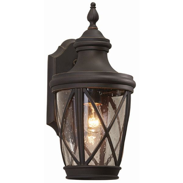 Patio 16 pinterest allen roth castine 1441 in h rubbed bronze outdoor wall light 70 liked on polyvore featuring home outdoors outdoor lighting bronze outdoor wall mozeypictures Gallery