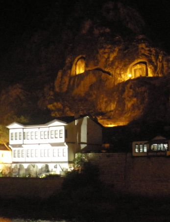 Pontic tombs at night; Turkey