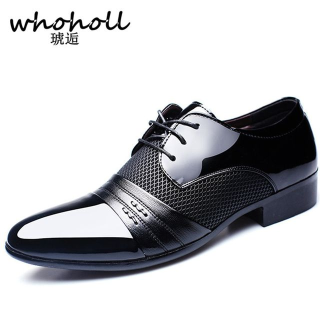 Limited Offer $15.59, Buy Whoholl 2017 Men dress Arrival Height Increasing Men Flats Shoes Breathable Wedding Shoes Male Business Shoes Dress Shoes