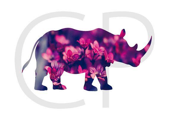 rinoceronte, rinoceronte para imprimir, ilustración de rinoceronte, ilustraciones de animales, cuadros de animales,  digital