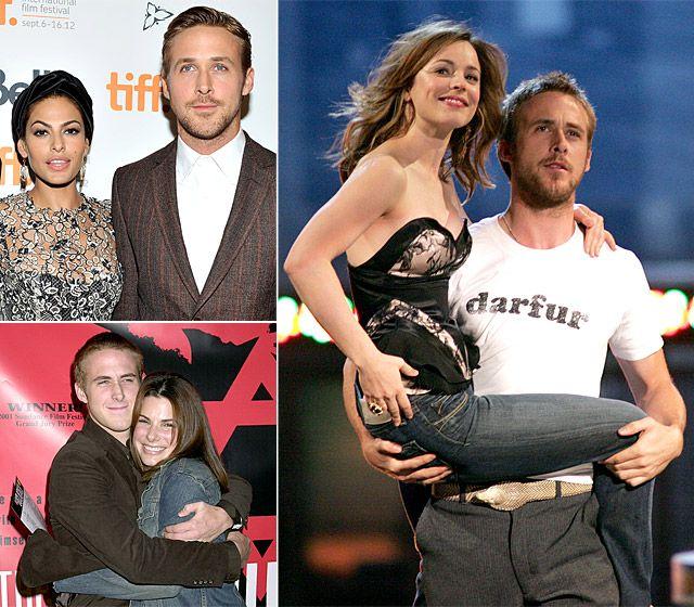 Three way couple: Ryan Gosling and Sandra Bullock/Rachel McAdams/Eva Mendes