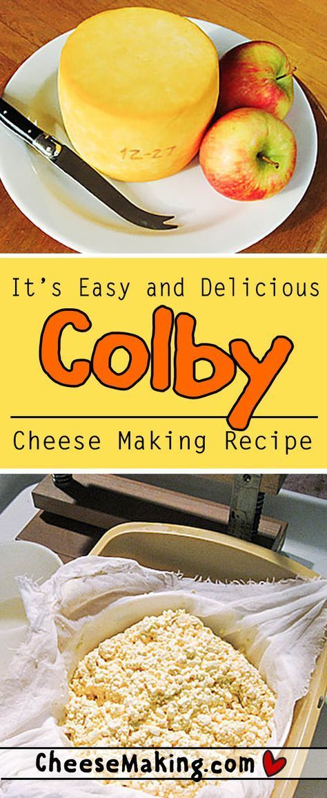 Learn how to make Colby with this easy to follow recipe. There's even step by step photos that help explain the whole process. This cheese is fun to make and perfect for new cheese makers. With just a few simple ingredients and equipment you'll be ready to make Colby right at home! Cheesemaking.com