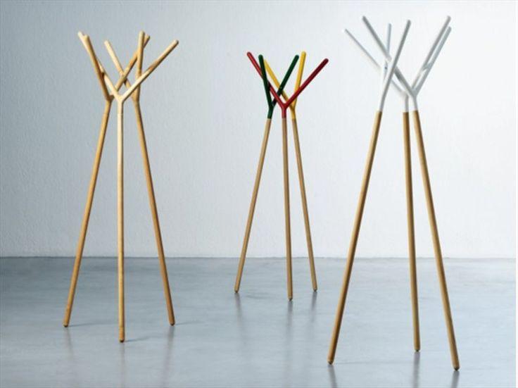 Standing wooden coat rack GAME OF TRUST by Miniforms | design Yiannis Ghikas