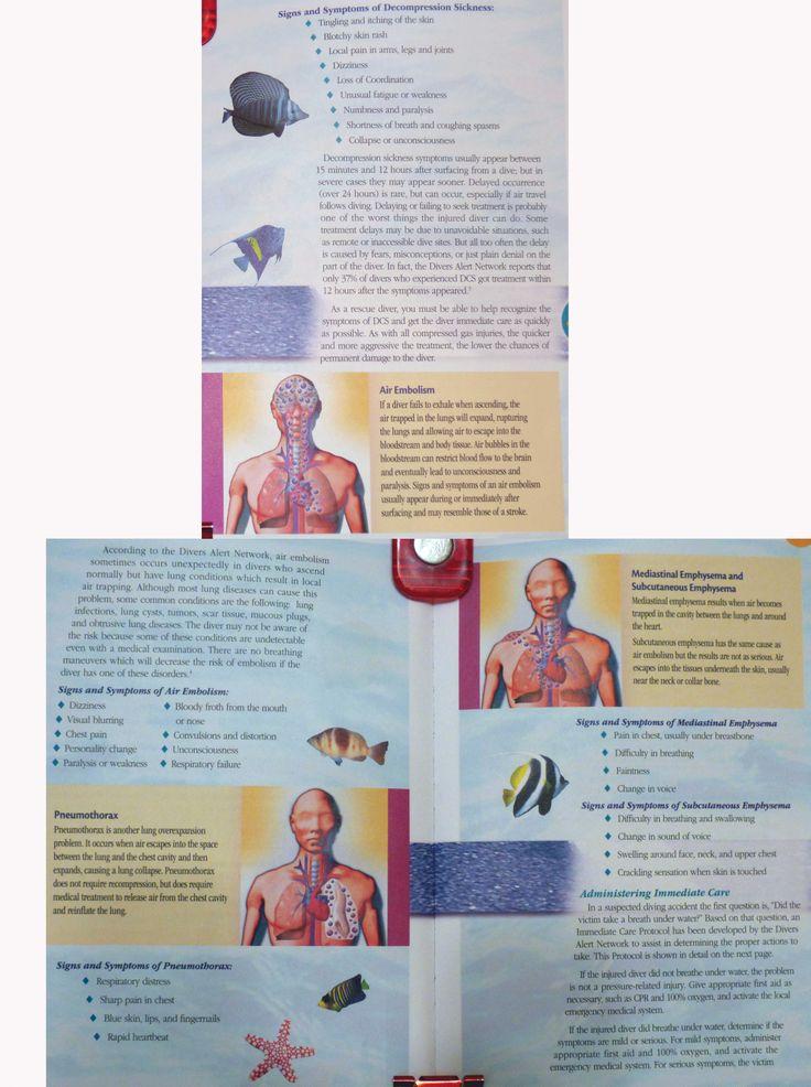 DCS, air embolism, pneumothorax