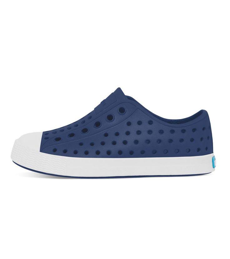 Native Jefferson Kids Regatta Blue/Shell White, Kids Footwear, www.oishi-m.com