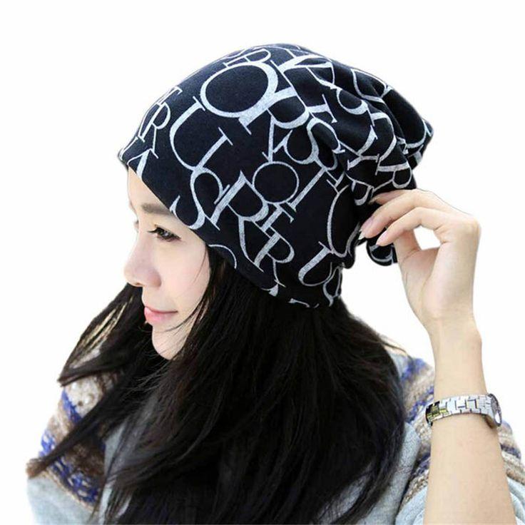 2015 мода хип-хоп английская буква многофункциональный женщины багги hat, Леди шапочка шарф шляпа, Повязка на голову ленты для волос шарф шапочка Cap