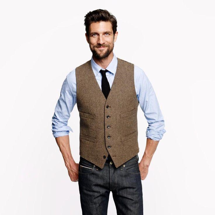 2016-summer-wedding-brown-vintage-tweed-vests