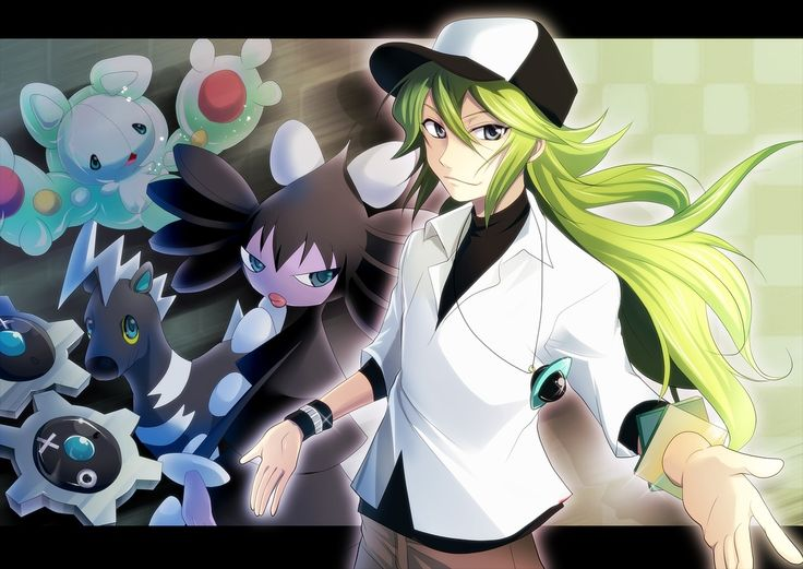 Image result for Pokemon trainer N and his team