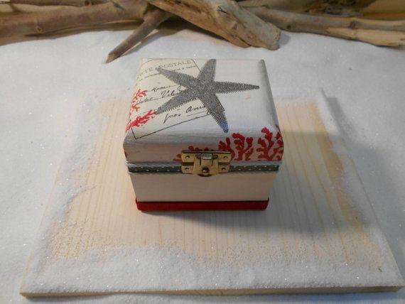 Tea box Small jewelry box Handmade wooden box by Zozelarium