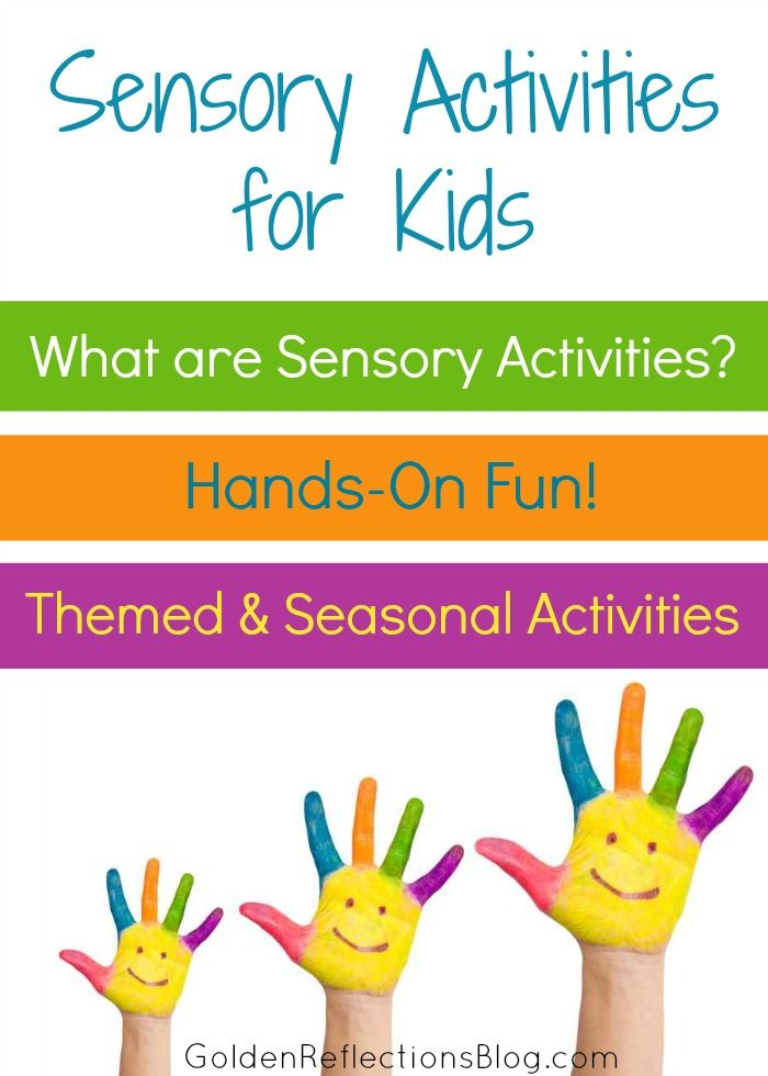 A list of sensory activities for children from an Occupational Therapy Assistant and homeschool mom blogger! | www.GoldenReflectionsBlog.com...