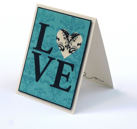 Love card romantic Anniversary wedding card I by ThePurpleTable