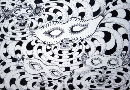 Pitalice / Riddle (zentangle style) by Renata Cekovic