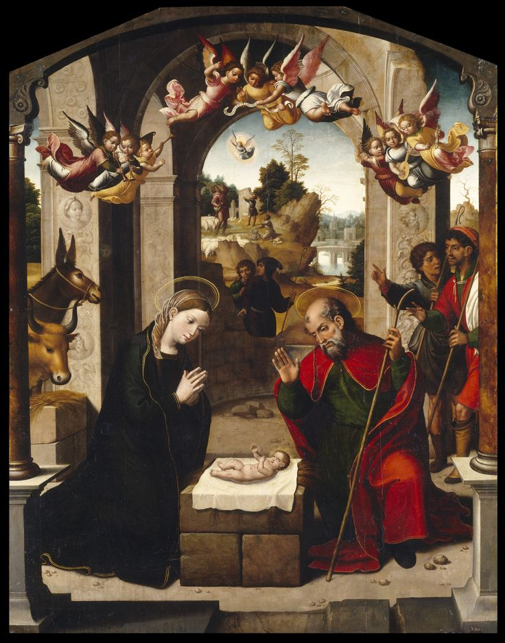 Juan Correa de Vivar (1510 - 1566) - The Nativity.