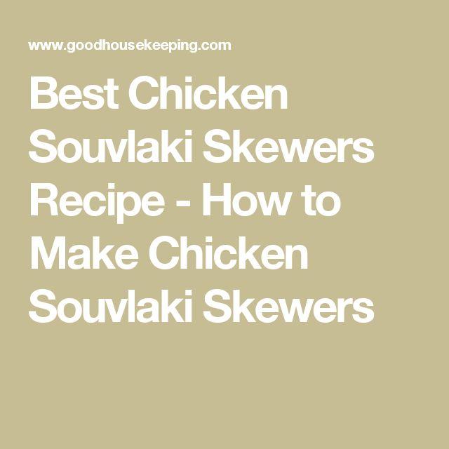Best Chicken Souvlaki Skewers Recipe - How to Make Chicken Souvlaki Skewers
