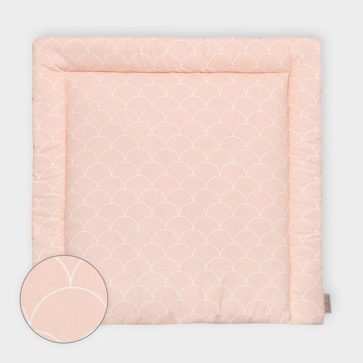 KraftKids Wickelauflage - weiße Halbkreise auf Pastelrosa                                                                                                                                                                                 Mehr