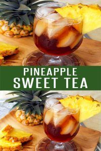 Easy Pineapple Sweet Tea. Perfect drink recipe for Spring and Summer. Loaded wit…