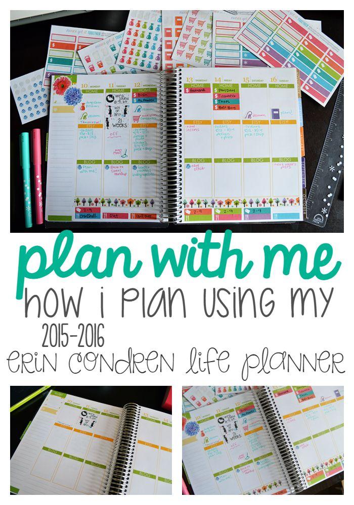 Plan With Me! How I Plan Using My Erin Condren Life Planner