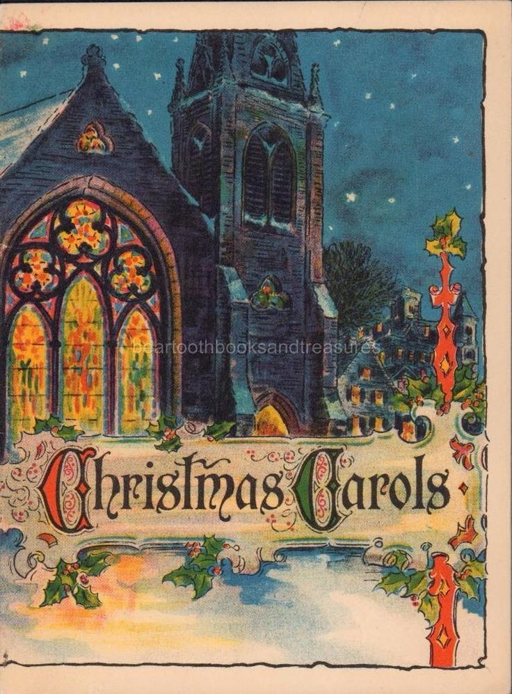 Christmas Carols Vintage Song Booklet John Hancock Mutual Life Insurance Co.