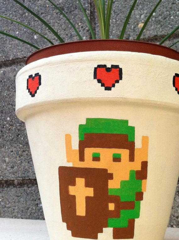 Legend of Zelda Flower Pot on Global Geek News. Um, I'm going to make this! No joke. Yessss.