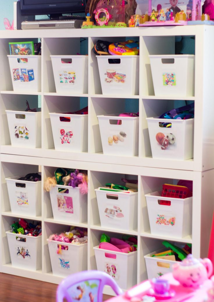an organized playroom - Kids Room Storage Bins