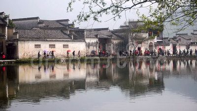 A cena bonita em Hong Village, província de Anhui, China.