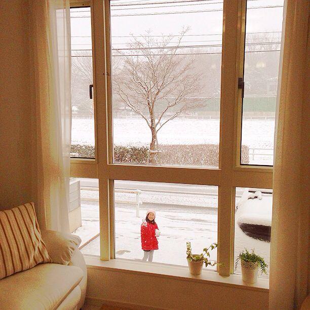 2/8土曜日、雪。 子どもは元気だわぁ(❁´◡`❁)