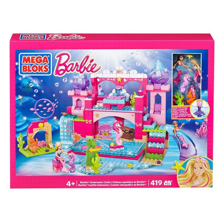 mega bloks barbie underwater castle dbm21 mattel shop