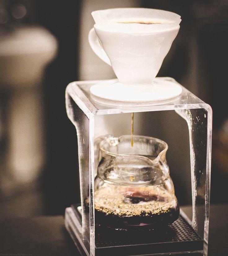 V60 coffee brewing.