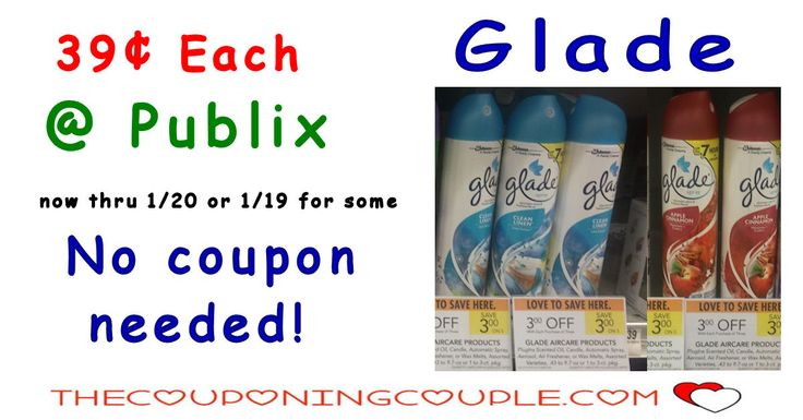 Cheap Glade Spray @ Publix ~ Super Easy Deal that anyone can do. $0.39 each is a great price to stock up on a few! Now through 1/20 or 1/1916 for some. Hot!  Click the link below to get all of the details ► http://www.thecouponingcouple.com/cheap-glade-spray-publix-super-easy-deal/ #Coupons #Couponing #CouponCommunity  Visit us at http://www.thecouponingcouple.com for more great posts!