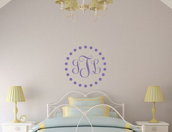 Best Personalized Kids Wall Decals Images On Pinterest Kids - Monogram wall decal for kids