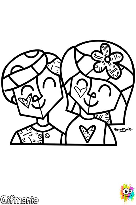Enamorados de Britto #britto #romerobritto #pareja #enamorados #dibujosparacolorear